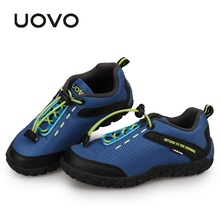 Детская обувь UOVO, детские дышащие кроссовки В гоночном стиле для мальчиков и девочек, осенние кроссовки, Eur28 35