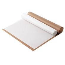 Многоразовый коврик для выпечки, термостойкий тефлоновый лист для выпечки, клееная бумага, термостойкая подкладка, антипригарное покрытие для барбекю на открытом воздухе