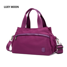 Luxy Moon Women Travel Bags Handbags Fashion Portable Luggage Bag Purple Duffel Bags Waterproof Nylon Weekend Duffle Bag