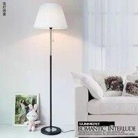 Modern Simple Living Room Bedroom Bedside Lamp European Creative Fabric Decoration Remote Control LED Floor Lamp