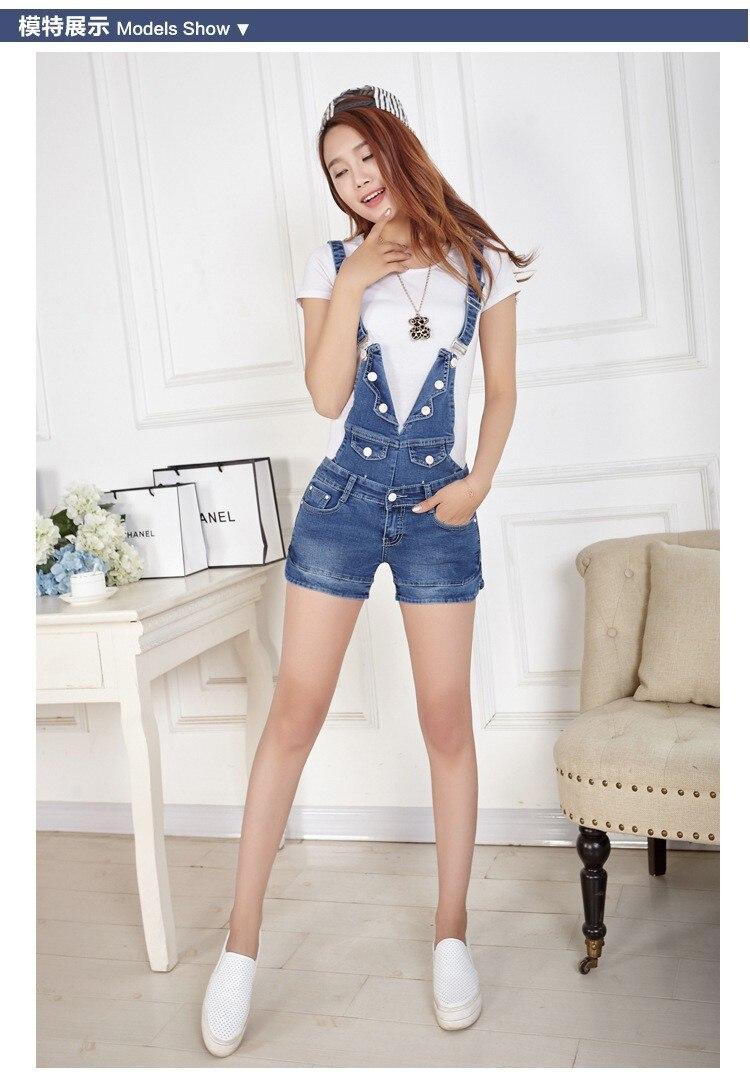 Летние джинсовые шорты свободные, большие размеры; тонкий цельный комбинезон, модные комбинезоны, брендовые джинсы на пуговицах