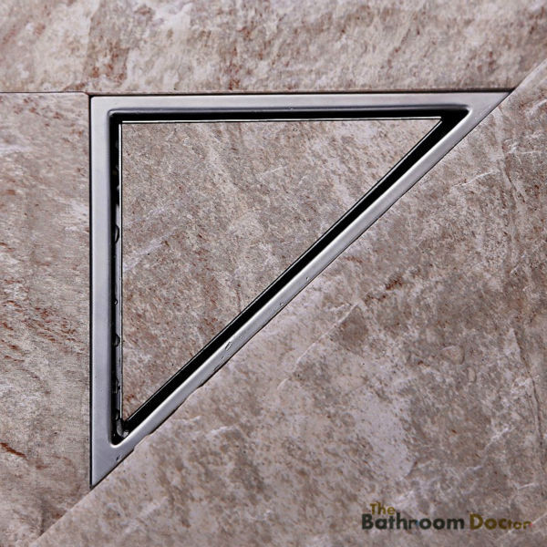 Triangle Wall Corner Stainless Steel Floor Drain Shower Grate Water Waste Drain 11-184 free shipping stainless steel bathroom floor drain shower floor drain triangle shape grate waste drain dr089