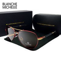 2017 High Quality Pilot Sunglasses Men Polarized UV400 Sunglass Brand Designer Driving Sun Glasses For Man