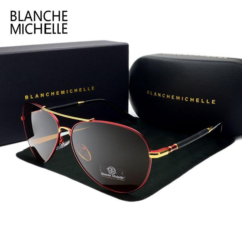 2017 высокое качество пилот Солнцезащитные очки для женщин Для мужчин поляризационные UV400 Защита от солнца стекло Брендовая дизайнерская обувь для вождения Защита от солнца Очки для человека Óculos с коробкой