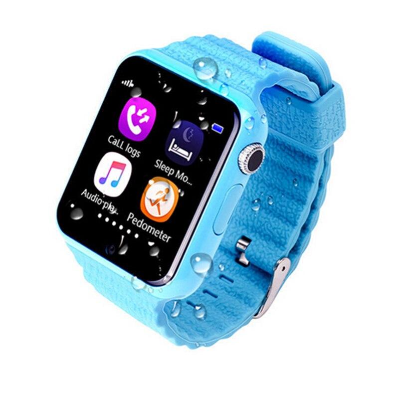 HESTIA Kids Smart Watch V7K GPS Touch Screen 0.3M Camera SOS Location Device Wristband Tracker Kid Safe Children's Watch PK Q90 v7k smart watch green