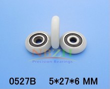 free shipping 10pcs/lot 5*27*6 Miniature Bearings Nylon wheel crane wheel Shower room bearings r166481310 page 6