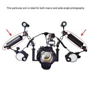 Image 5 - PULUZ Carbon Faser Float Auftrieb Aquatische Arm Dual Ball Schwimm Arm Tauchen Kamera Unterwasser Tauchen Tablett für Gopro/Smartphones