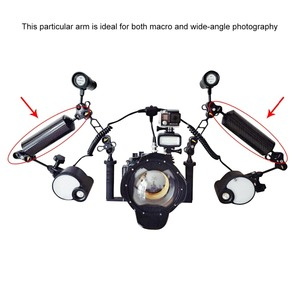 Image 5 - PULUZ Carbon Fiber Float Buoyancy Aquatic Arm Dual Ball Floating Arm Diving Camera Underwater Diving Tray for Gopro/Smartphones