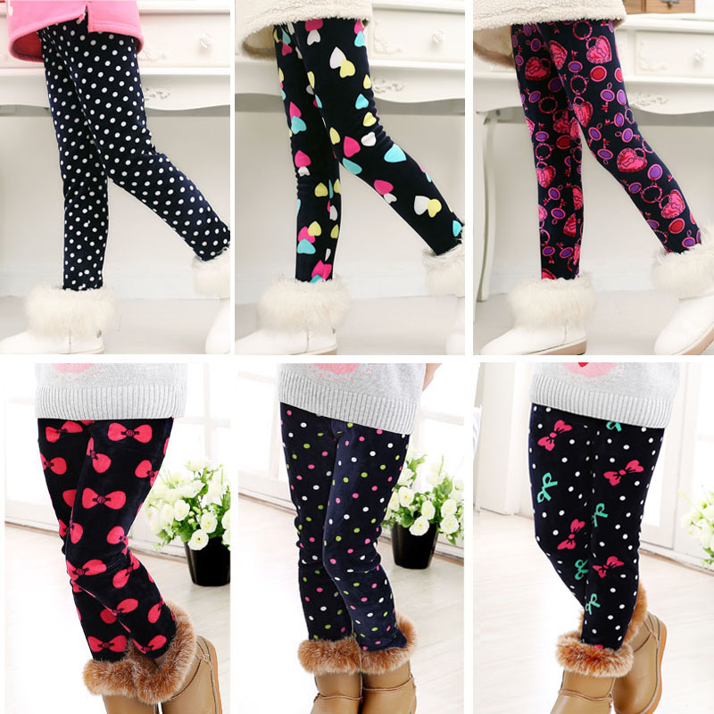 Girls Leggings Children Pants 2018 Winter Autumn Fall Spring Baby Colorful Fashion Print Flower Butterfly Kids Girls Pants