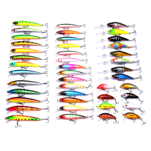 43pcs/lot Mixed Fishing Lure Kit Minnow Crankbait Artificial Hard Baits Lifelike Wobblers Fake Fish Carp Fishing bait HD001 walk fish 1pcs 8cm 10g fishing lure hard bait carp fishing fresh water insect bait fake lure fishing jerkbait minnow crankbait