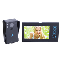 HD visual Дверные звонки 7 дюймов видео домофон 1 монитор 1 открытый машина HD камеры инфракрасного ночного видения Беспроводной Дверные звонки