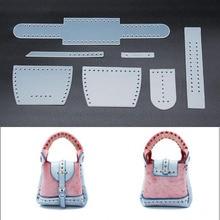 Сделай Сам Кожаная мини-сумка маленькая сумка на плечо Подвеска для шитья шаблон ПВХ