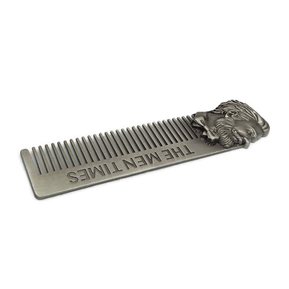 1pc Stainless Steel Men's Beard Styling Template Comb Shaping Brush Tool Beard Comb Template Grooming Kit Facial Hair Trimmer 1