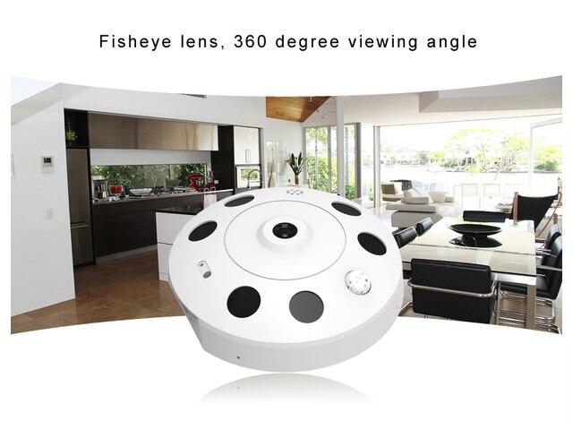 Home IP WIFI Camera HD 1080P Two-way Audio Activity Alert YUNSYE Smart IP WIFI Webcam 360 degree panoramic camera IR CUT