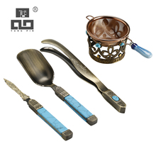 TANGPIN aluminum alloy tea ceremony sets handmade strainers accessories