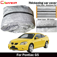 Cawanerl Thick Cotton Car Cover Sun Rain Hail Snow Dust Resistant Cover Waterproof For Pontiac G5 Coupe Hatchback