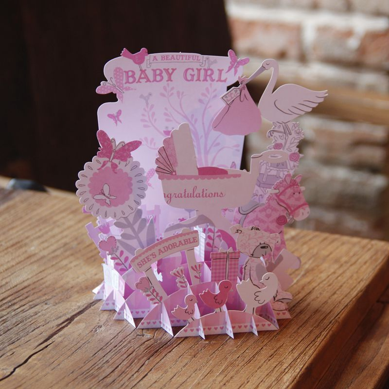 Pink baby shower babygirl birthday party 3d pop up handmade birthday pink baby shower babygirl birthday party 3d pop up handmade birthday greeting card designs printing bulk gift 5012 on aliexpress alibaba group m4hsunfo