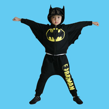 Children s cosplay Halloween costume Boys and girls Batman performance clothing Bat shirt harem pants fashion