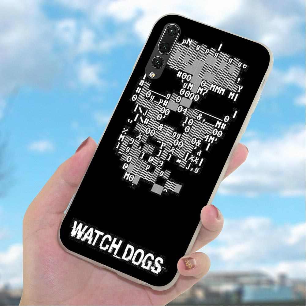 רך TPU סיליקון כיסוי עבור Huawei P חכם 2018 שעון כלבים ברגים טלפון מקרה למקרה 10 20 פרו P8 p9 P10 לייט P20 P30 2019 עור