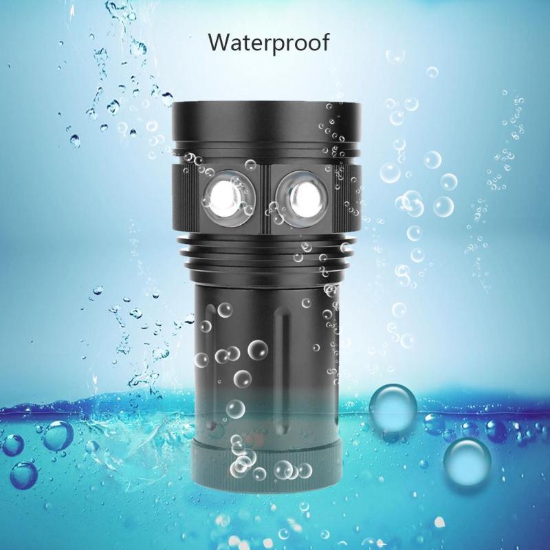 Professional Diving Light Underwater 100m Scuba Video Light 27LED Photography Video Dive Flashlight Lamp