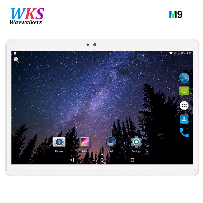 2018 M9 Shipping Android 7.0 10.1 inch tablet pc 8 Octa Core 4GB RAM 32GB 64GB ROM 3G 2MP 5MP 1280X800 IPS WIFI Dual SIM Card lnmbbs android 5 1 8 core 10 1 inch tablet pc 2gb ram 32gb rom 5mp wifi a gps 3g lte 1280 800 ips dual cameras otg fm multi game