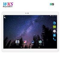 2018 M9 Verschiffen Android 7.0 10,1 zoll tablet pc 8 Octa-core 4 GB RAM 32 GB 64 GB ROM 3G 2MP 5MP 1280X800 IPS WIFI Dual-sim-karte
