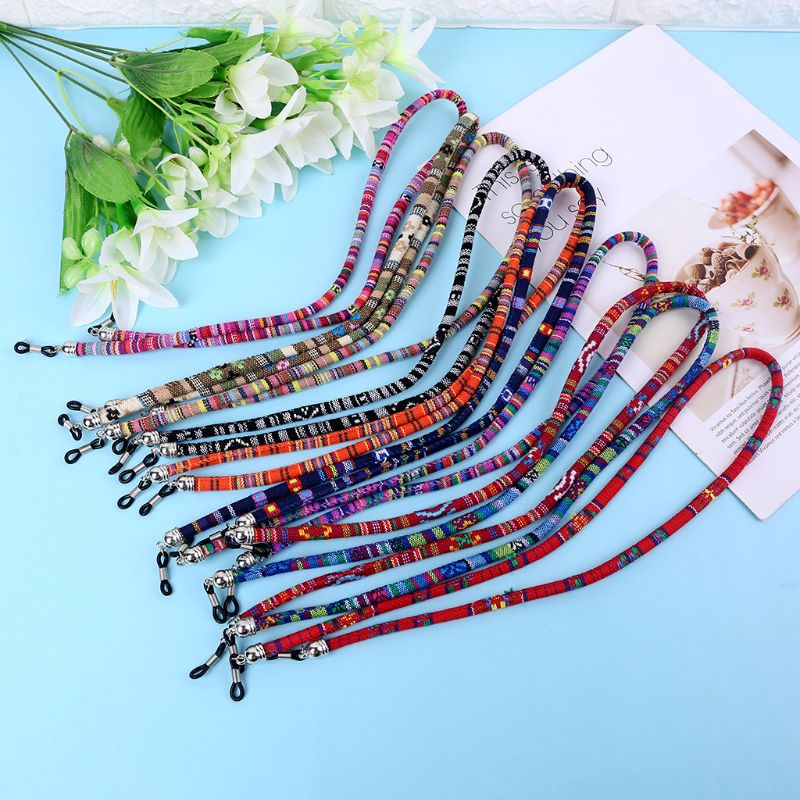 Men Women Ethnic Style Multi Color Glasses Rope 6mm Sunglasses Neck Cord Strap Eyeglass String Holder 10 Styles