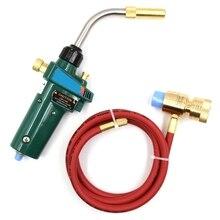 цена на Mapp Gas Brazing Torch Self Ignition Trigger 1.5M Hose Propane Welding Heating Bbq Hvac Plumbing Jewelry Cga600 Burner