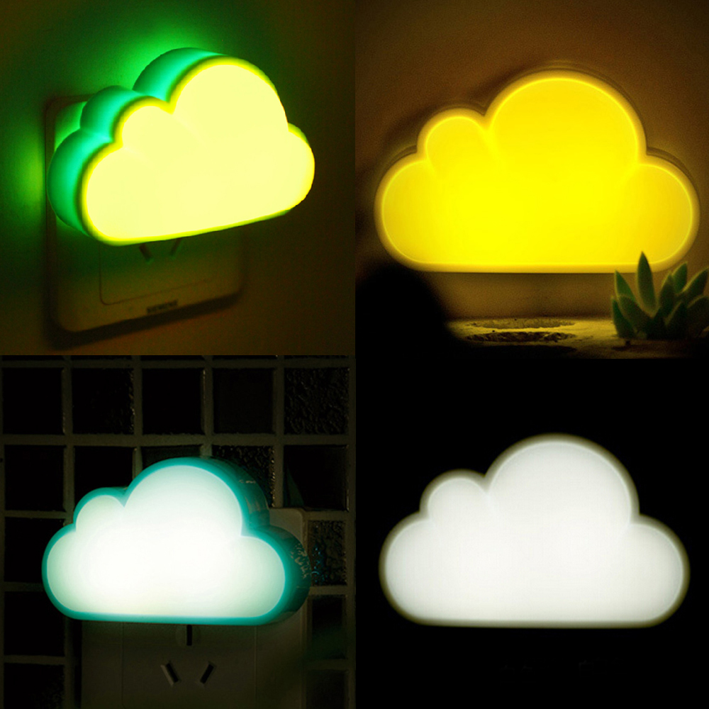 Novelty Cloud Shaped Light Control Living Room Hallway LED Night Lamp Children Decor