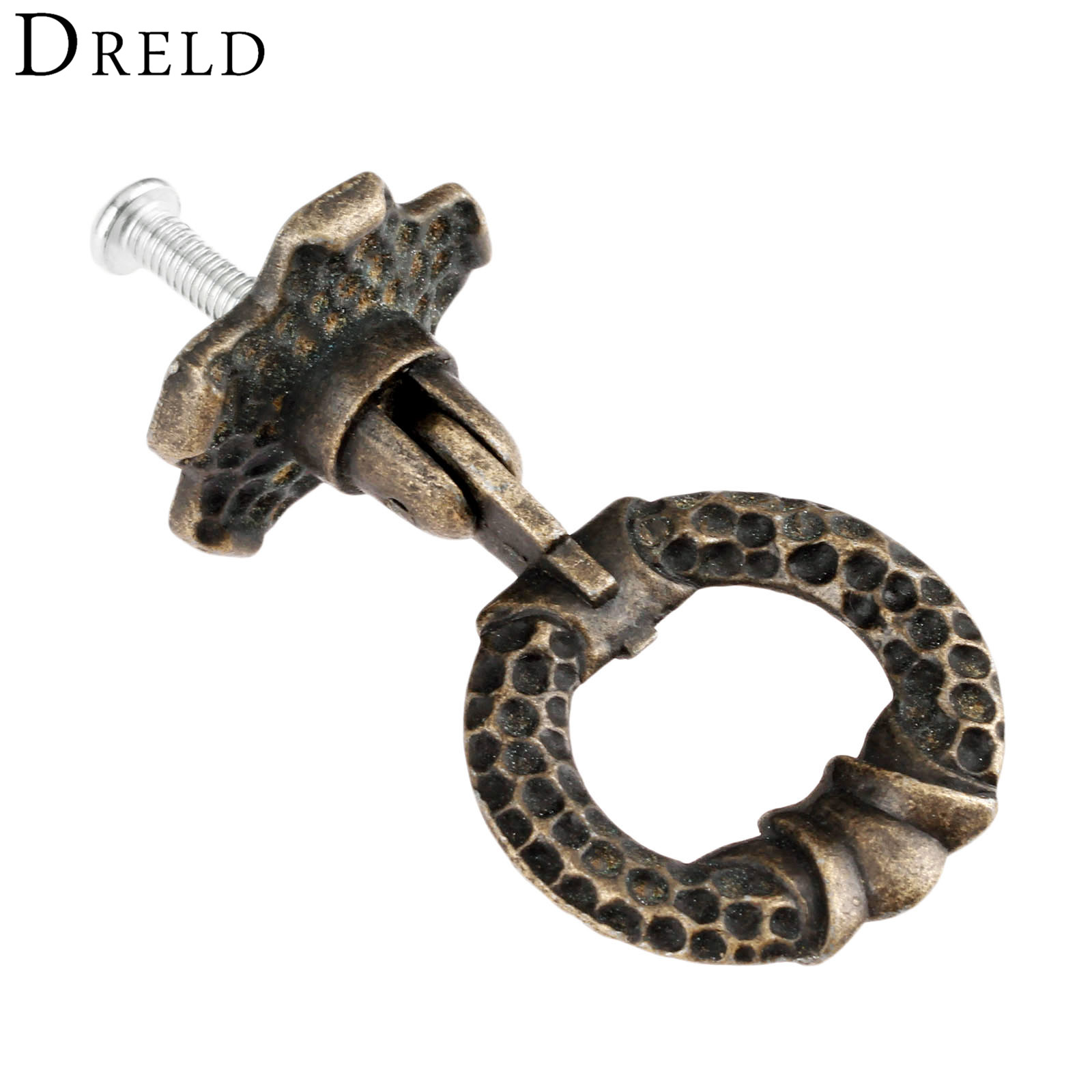 DRELD 1Pc Antique Bronze Furniture Handle Drawer Knobs Kitchen Cabinet Drawer Cupboard Door Handles Pull Furniture Fittings dreld 96 128 160mm furniture handle modern cabinet knobs and handles door cupboard drawer kitchen pull handle furniture hardware