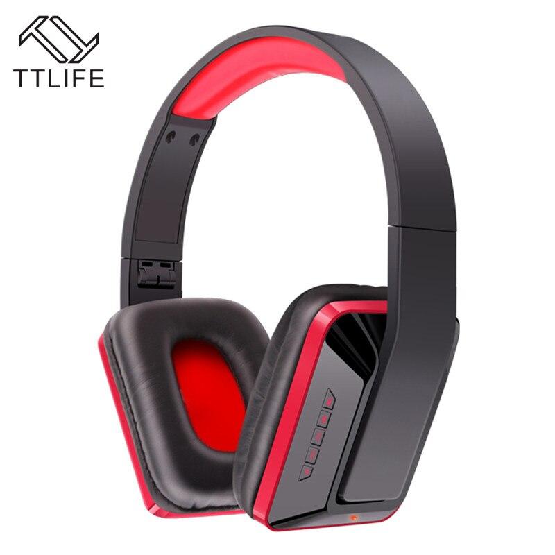 TTLIFE Brand Portable Earphone Stereo Headset SD Card+FM Radio Wireless Bluetooth Headphones MX111 for phone Samsung Xiaomi