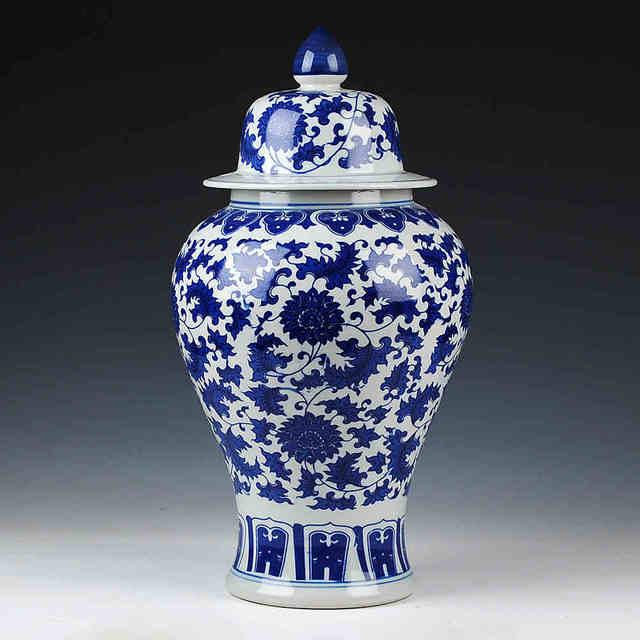 Chinese Reproduction Ceramic Ginger Jar Vase Antique Porcelain