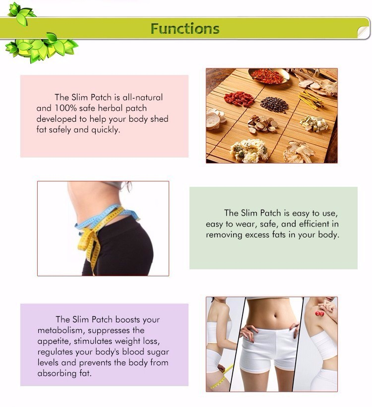 30 Pcs/Box Slim Patch Weight Loss Natural Ingredients Navel Patch For Women Men Fat Burning Slimming Body Wraps Health Products 11