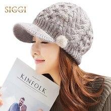 1749b7f9f4d FANCET Women Winter Berets Warm Solid Wool Peaked Brim Fleece Skullies Knitted  Hats Beanies For Women 2019 Cap Hat 89212