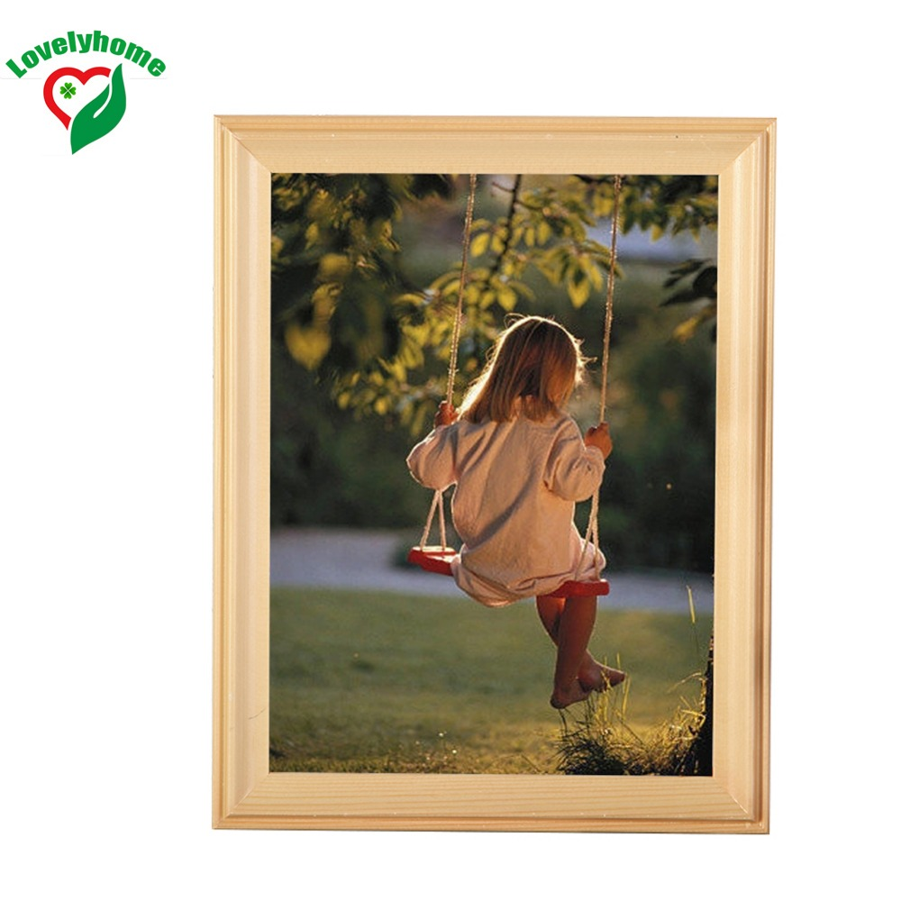Small Picture Frames Various Sizes Beige Wooden Picture Frames Hot