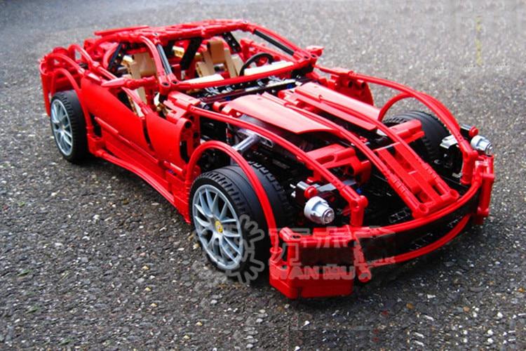 Décool 3333 1322 pièces 1:10 super voiture F1 modèle de course blocs briques construction jouets set enfants cadeaux pour lego technic 8145 Ferrari