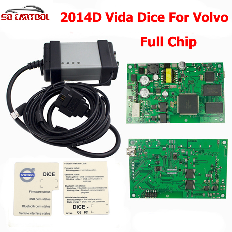 DHL Free Shipping Professional For Volvo Vida Dice 2014D Full Chip Diagnostic Tool With Multi-language dhl free 2016 07v super mb star c3 diagnosis multiplexer main unit of professional car diagnostic tool for mer ce des ben z