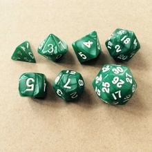 Free shipping 7pcs/set Pearl pattern dice for board game/card game accessories(green,red,blue,yellow,black,purple is available)