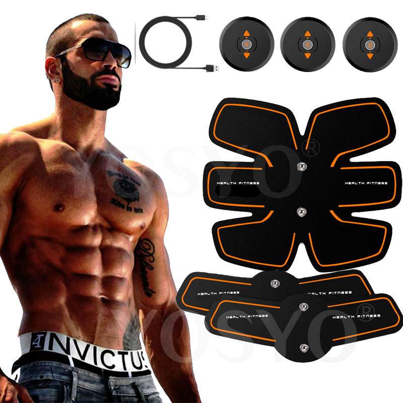 Rechargable Electric Smart EMS Abdominal Muscle Intensive Stimulator Exerciser Trainer Machine Weight Loss Slimming Massager