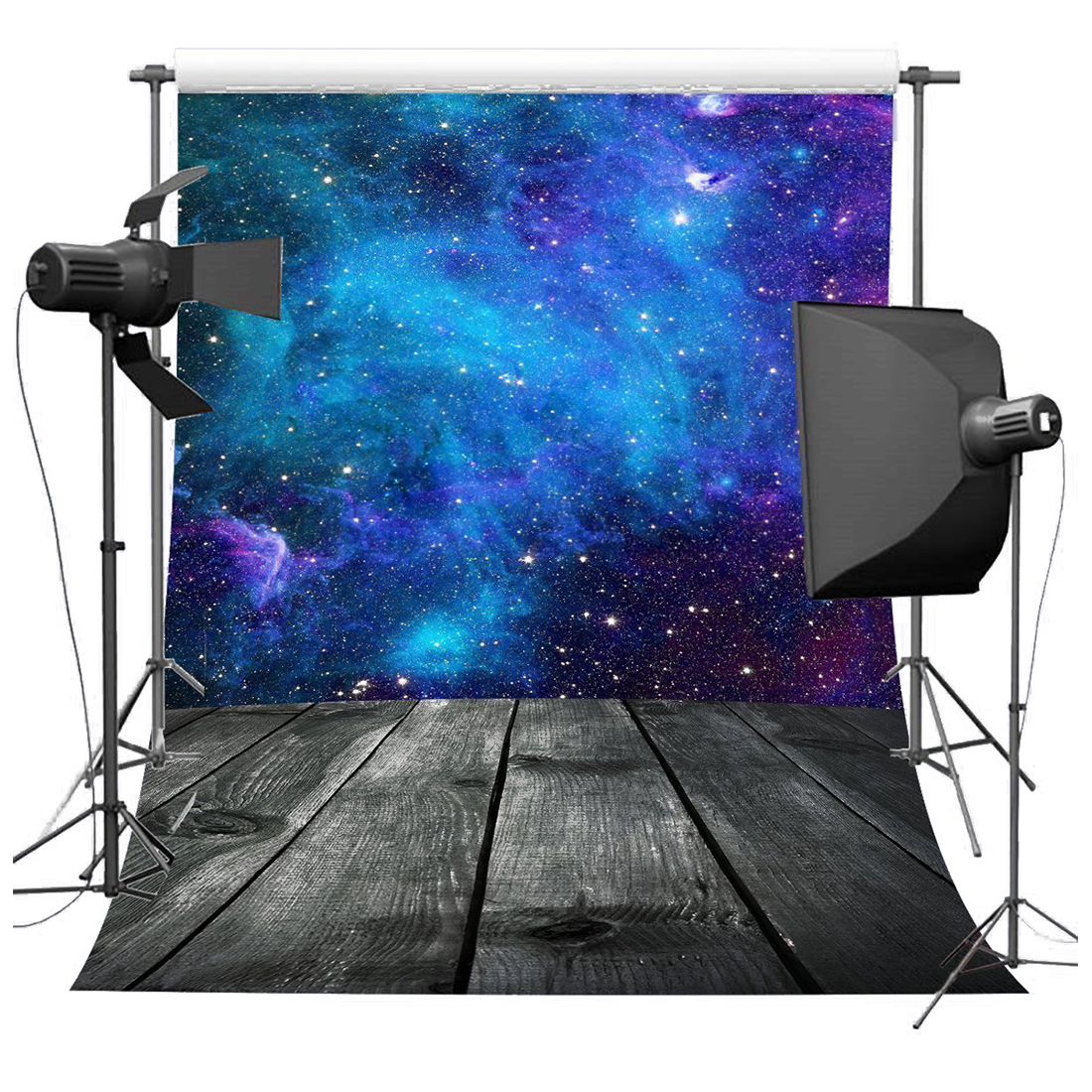 5X7ft Gorgeous Blue Starry Sky Photography Backdrops For Children Portrait Shooting Props blue sky чаша северный олень