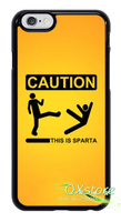 CAUTION This Is Sparta Fun Cool Phone Cover Case For Samsung Galaxy S3 S4 S5 S6
