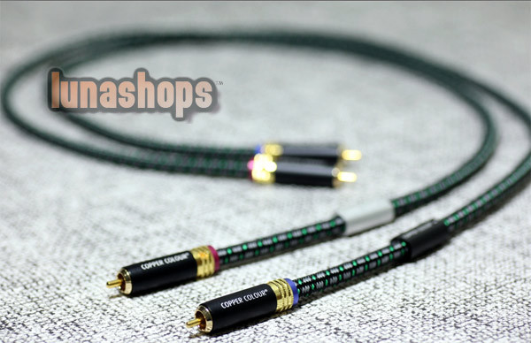 1m Copper Colour CC Fond 2 RCA Male To Male Cable Alloy + 1.8 OCC Copper LN002686 middle eastern patterns to colour