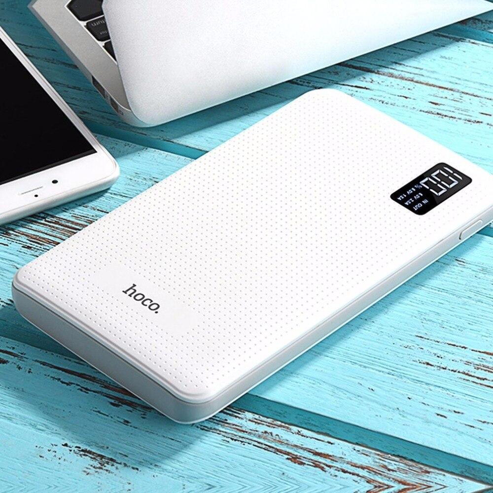 imágenes para HOCO B24 powerbank móvil 30000 mAh banco de la energía del tesoro 3USB teléfono móvil cargador rápido con pantalla de salida para todos los teléfonos