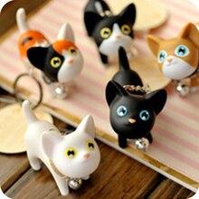 New Japanese Game Neko Atsume Couple keychain lovely Korea Creative Kate Kitty key chain  key ring Cat collect