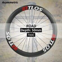 цена на 700c wheelset asymmetric 50mm deep aero clincher carbon road bike wheels  - WRC-50A