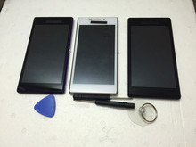 For Sony Xperia M2 D2303 Black white purple Full LCD Display Screen Panel Touch Screen Digitizer