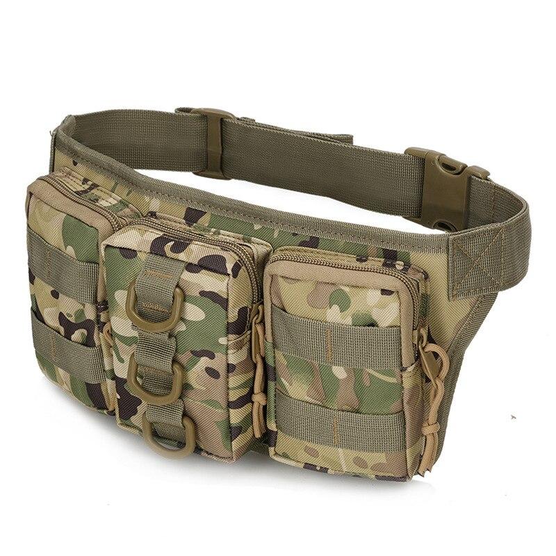 Jaunas daudzfunkcionālas militārās maskēšanās kabatas ūdensnecaurlaidīga ceļošana alpīnisma izjādes krūškurvja soma jostas soma soma uz jostas