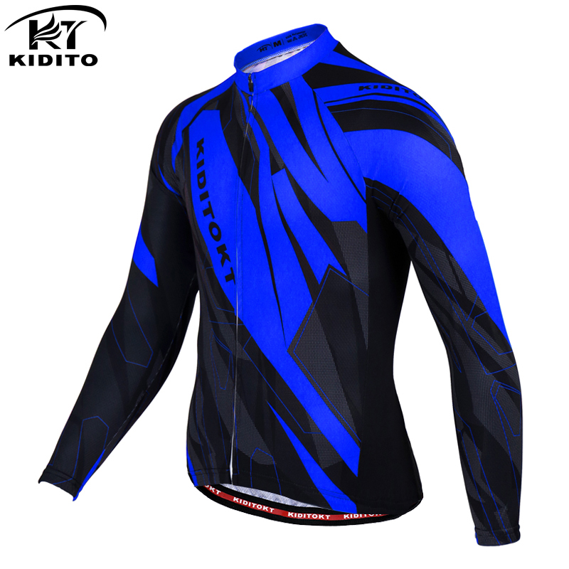 KIDITOKT Long Sleeve Cycling Clothing MTB Bike Sportswear Ropa Maillot Ciclismo Bicycle Clothes Men's Cycling Pro Quality Jersey
