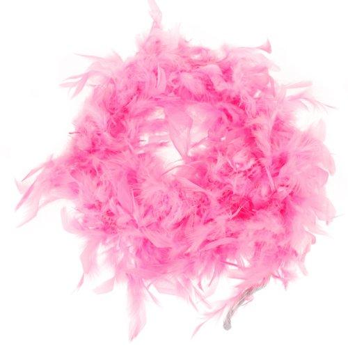 Boa de Plume Rose Pelucheux Decoration Artisanale 6,6 Pieds de Long