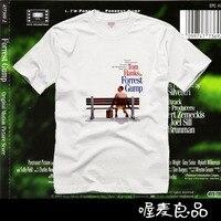 Forrest Gump 2017 novo design curto-manga comprida t-shirt de alta qualidade camiseta 100% algodão dos homens freeshipping longe jersey s top